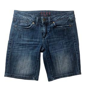 Elle Paris Long Denim Shorts Size 2